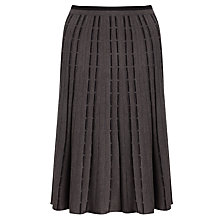 Buy John Lewis Capsule Collection Contrast Knit Skirt, Grey/Black Online at johnlewis.com