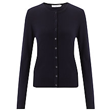 Buy John Lewis Capsule Collection Merino Wool Crew Cardigan, Navy Online at johnlewis.com