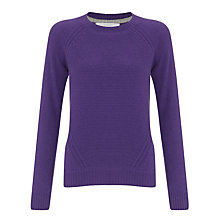 Buy Collection WEEKEND by John Lewis Links Front Cashmere Jumper, Purple Online at johnlewis.com