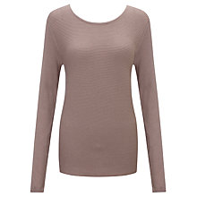 Buy John Lewis Capsule Collection Rib Button Top, Mink Online at johnlewis.com