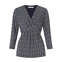 Buy John Lewis Capsule Collection Zig Zag Print Top, Blue/White Online at johnlewis.com
