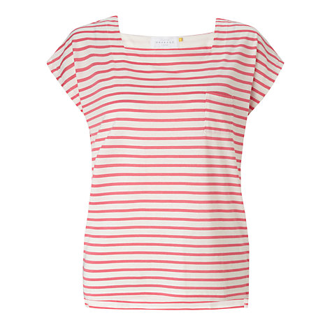 Buy Collection WEEKEND by John Lewis Square Neck Top, Ivory/Calypso Coral Online at johnlewis.com