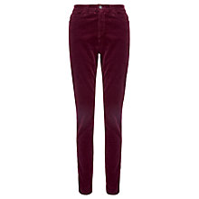 Buy Collection WEEKEND by John Lewis 5 Pocket Skinny Cord Trousers, Burgundy Online at johnlewis.com