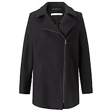 Buy John Lewis Capsule Collection Biker Wool Jacket, Black Online at johnlewis.com