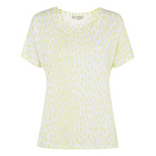 Buy NW3 by Hobbs Lori T-Shirt, White Lemon Flo Online at johnlewis.com