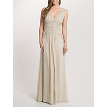 Buy Ariella Verity Beaded Bodice Dress, Champagne Online at johnlewis.com