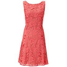 Buy Ariella Tilly Lace Mesh Dress, Coral Online at johnlewis.com