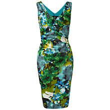 Buy Ariella Amy Stretch Floral Print Dress, Green/Blue Online at johnlewis.com