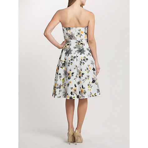 Buy Ariella Amber Crinkled Chiffon Floral Dress, White/Yellow Online at johnlewis.com