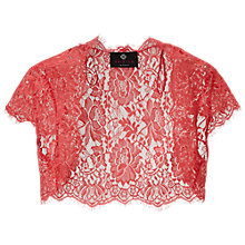 Buy Ariella Nila Lace Bolero, Coral Online at johnlewis.com
