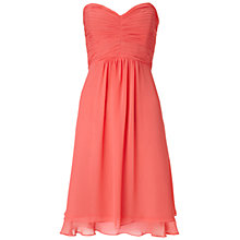 Buy Ariella Raina Chiffon Bandeau Dress, Coral Online at johnlewis.com