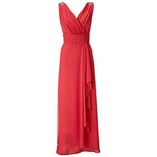 Buy Ariella Felicity Chiffon Maxi Dress, Coral Online at johnlewis.com