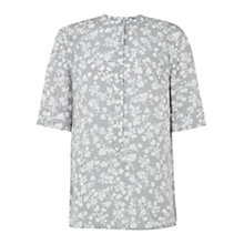 Buy Hobbs Maive Top, Grey/Ivory Online at johnlewis.com