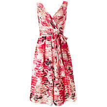 Buy Ariella Lisa Stripe Floral Dress, Pink Online at johnlewis.com