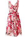 Ariella Lisa Stripe Floral Dress, Pink