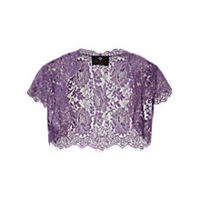 Buy Ariella Nila Lace Bolero, Lavender Online at johnlewis.com