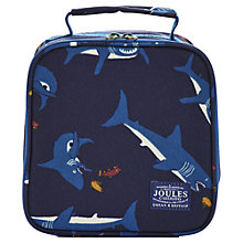Buy Little Joule Shark Print Lunchbag, Navy Online at johnlewis.com