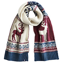 Buy Little Joule Liam Fairisle Scarf, One Size, Cream Online at johnlewis.com