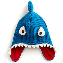 Buy Little Joule Finn Knitted Hat, Blue Online at johnlewis.com