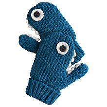 Buy Little Joule Shark Mittens, Blue Online at johnlewis.com