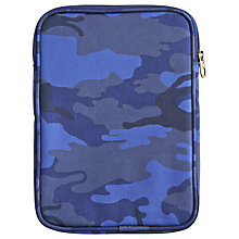 Buy Little Joule Junior Mini Camouflage Tablet Case, Navy Online at johnlewis.com