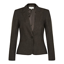 Buy Hobbs London Daria Jacket, Chocolate Online at johnlewis.com