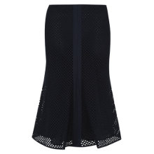 Buy Hobbs London Seren Skirt, Navy Online at johnlewis.com