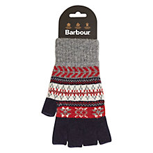 Buy Barbour Fair Isle Wool Fingerless Gloves, Navy Online at johnlewis.com