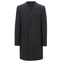 Buy John Lewis Italian Woven Herringbone Epsom Coat, Grey Online at johnlewis.com