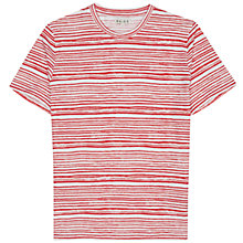 Buy Reiss Field Contrast Stripe T-Shirt, Paprika Online at johnlewis.com