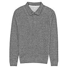 Buy Reiss Phantom Collared Jumper, Gunmetal Online at johnlewis.com