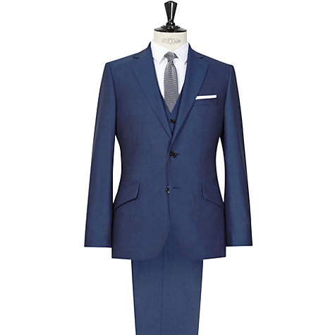 Buy Reiss Lungano 3 Piece Wool Suit, Blue Online at johnlewis.com