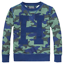 Buy Tommy Hilfiger Boys' Dodge Camo Print Top, Blue/Multi Online at johnlewis.com