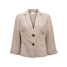 Buy East Two Button Cross Dye Linen Jacket, Stone Online at johnlewis.com