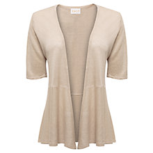 Buy East Short Sleeve Linen Cardigan, Lightstone Online at johnlewis.com