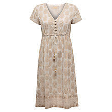 Buy East Niwis Gold Print Kurta, White Online at johnlewis.com