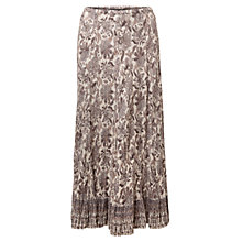 Buy East Samode Print Crinkle Skirt, White Online at johnlewis.com