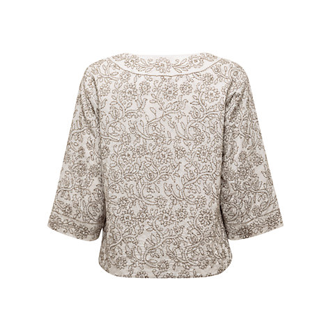 Buy East Chikkan Jacket, White Online at johnlewis.com