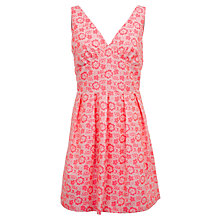 Buy Wolf & Whistle Neon Textured Cotton Dress, Pink Online at johnlewis.com