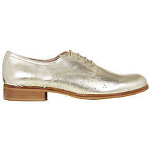 Buy NW3 by Hobbs Millie Derby Brogue Shoes, Light Gold Online at johnlewis.com