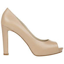 Buy Hobbs Invitation Aisha Leather Court Shoes, Foundation Pink Online at johnlewis.com