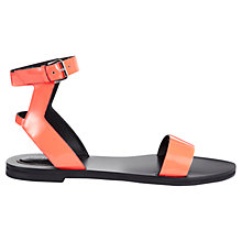 Buy Whistles Amber Strappy Flat Sandals, Coral Online at johnlewis.com