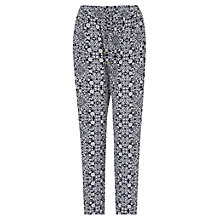 Buy Phase Eight Malika Tile Print Trousers, Navy/Ivory Online at johnlewis.com