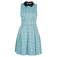 Buy Closet Geo Print Collar Dress, Green Online at johnlewis.com