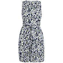 Buy Closet Print Tie Dress, Lime Online at johnlewis.com