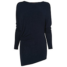 Buy Phase Eight Eve Asymmetric Top, Navy Online at johnlewis.com