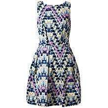 Buy Closet Geo Floral V-Back Dress, Multi Online at johnlewis.com