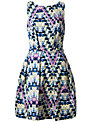 Closet Geo Floral V-Back Dress, Multi