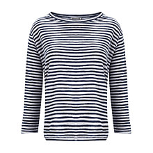 Buy Whistles Lauren Linen Stripe Top, Blue White Online at johnlewis.com