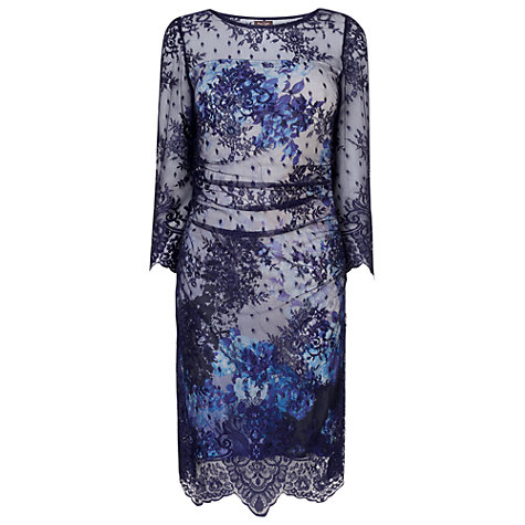 Buy Phase Eight Benita Printed Dress, Navy Online at johnlewis.com